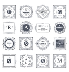 Monogram luxury elements vector