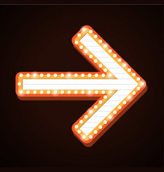 night club billboard retro arrow light frames vector image
