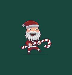Pixel art santa vector