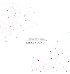 polygonal space background with connecting dots vector image