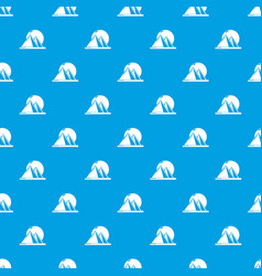 Pyramid egypt pattern seamless blue vector