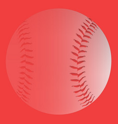 Red faded baseball vector