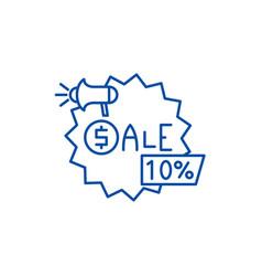 sales line icon concept sales flat symbol vector image