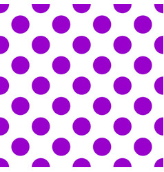Seamless pattern with purple polka dots vector