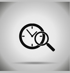 Search time icon vector