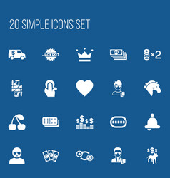 Set of 20 editable excitement icons includes vector