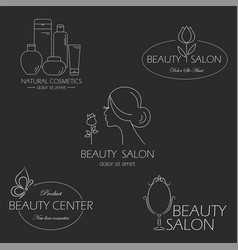 set of beauty logo templates labels badges vector image
