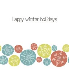 Snowflakes seamless border vector
