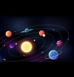 space background with planetts vector image