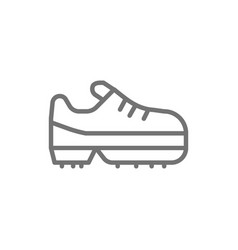 spiked football boot game equipment line icon vector image