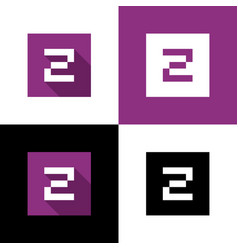 square letter z logo icon design elements vector image