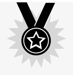 star medal icon vector image