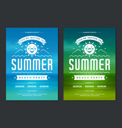summer party design poster or flyer night club vector image