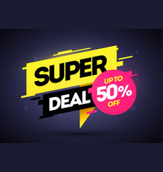 super deal special offer banner template vector image