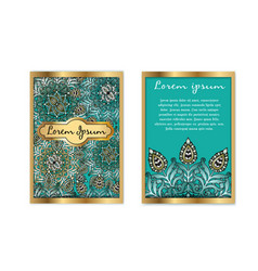 Template vintage luxury gift card floral vector