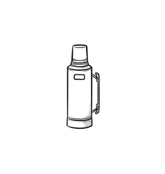 Thermos hand drawn sketch icon vector
