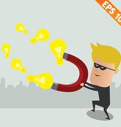 Thief steal idea - - EPS10 vector