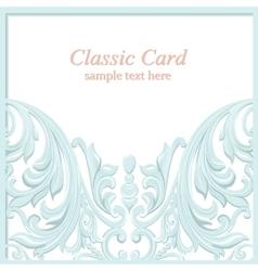 Vintage Baroque Invitation card Imperial style vector