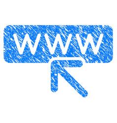 Website address grunge icon vector