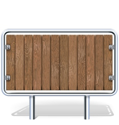 Wooden Industrial Board vector image