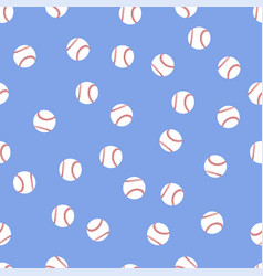background of baseball balls vector image vector image