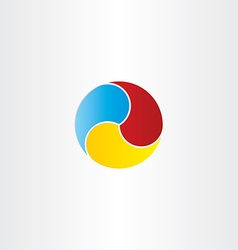 color circle business symbol design vector image vector image