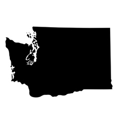 map of the US state of Washington vector image vector image