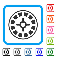 roulette framed icon vector image