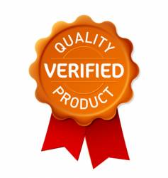 verified emblem vector image vector image