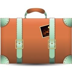 Coral travel suitecase vector