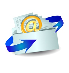 envelope with an email vector image