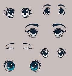 Manga eyes set vector image vector image