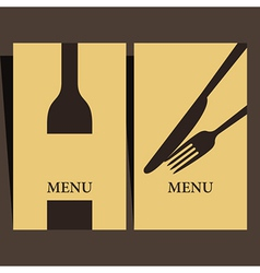Wine list and menu design vector