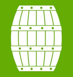 barrel icon green vector image
