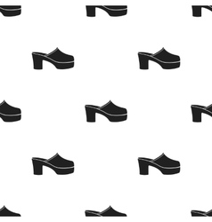 Klogs icon in black style isolated on white vector image vector image
