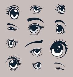 Manga style eyes vector image vector image