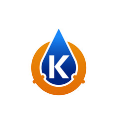oil water pipe solutions letter k vector image