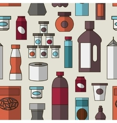 Big set of store products pattern vector