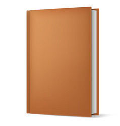 classic brown book in front vertical view vector image vector image