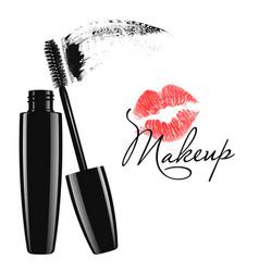 cosmetic product design mascara tube vector image
