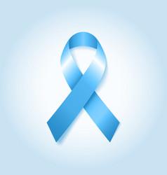Light Blue Awareness Ribbon vector image