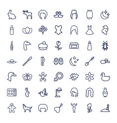 49 beautiful icons vector