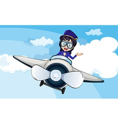 A hostess on a plane vector image