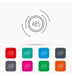 ABS icon Brakes antilock system sign vector image