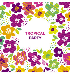 abstract tropical color floral pattern vector image