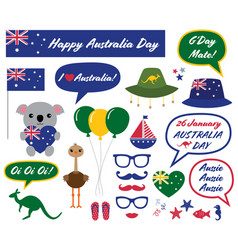 Australia day design elements vector
