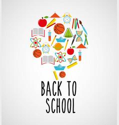 Back to school set suplies vector