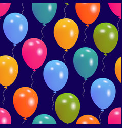 Balloons party seamless pattern vector