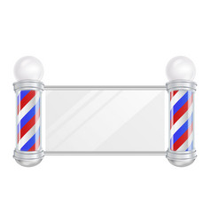 Barber shop pole space for your vector