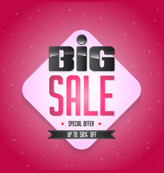 big sale banner for promotion advertising vector image